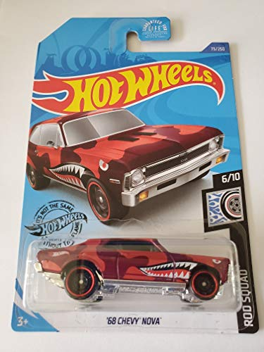 Hot Wheels 2020 Rod Squad '68 Chevy Nova, Red 73/250