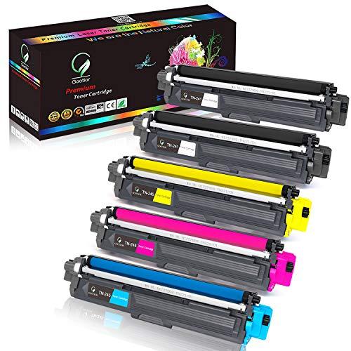 Gootior Cartouches de Toner TN-241 TN-245 Compatible pour Brother MFC-9330CDW, DCP-9020CDW, DCP-9015CDW, MFC-9340CDW, MFC-9332CDW, HL-3140CW, HL-3150CDW, HL-3170CDW, HL-3142CW, HL-3152CDW, 5 Packs