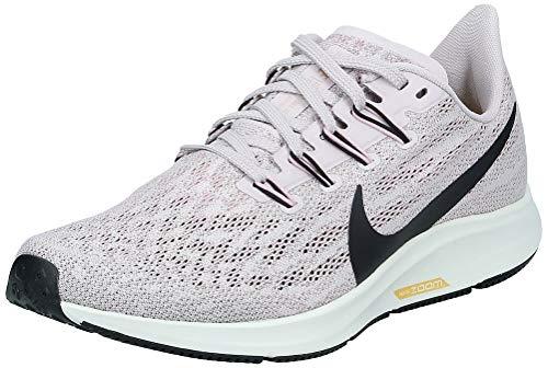 Nike Air Zoom Pegasus 36, Zapatillas de Running para Mujer, Platinum Violet Black Plum-Cuerda para magnesio, 39 EU