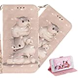 COTDINFOR Samsung Galaxy A8 2018 Case Cute Animal 3D Effect