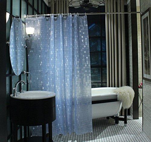 Vi.yo Rideau de Douche, étanche et Anti-moisissure EVA, Rideaux de Salle de Bains Transparents 3D, 180 * 180 cm