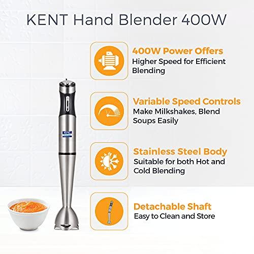 Kent Hand Blender SS-16044, 400 W, Silver