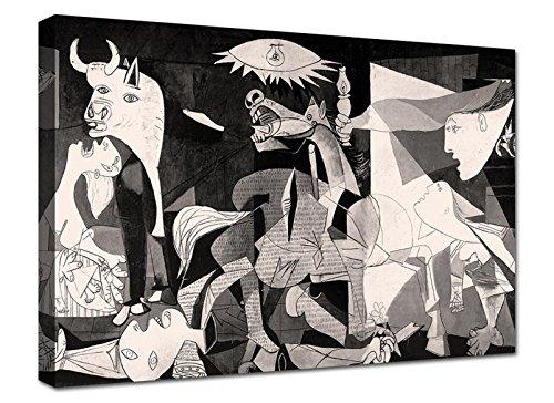 canvashop Cuadros modernos Picasso Guernica 70 x 50 cm Impresión sobre lienzo cuadro moderno salón