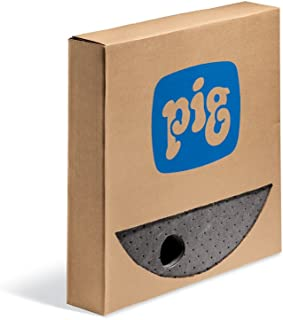"New Pig Barrel Top Absorbent Mat, for 55 Gal Steel Drums, 35-Ounce Absorbency, 22"" Diameter, (25 Drum Top Mats), MAT208"