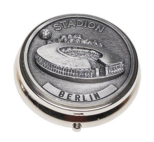 Schnabel-Schmuck Berlin Taschenaschenbecher Zinnauflage Fußballstadion