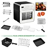 GoWISE USA 12.7-Quart Electric Air Fryer Oven w/Rotisserie and Dehydrator +...