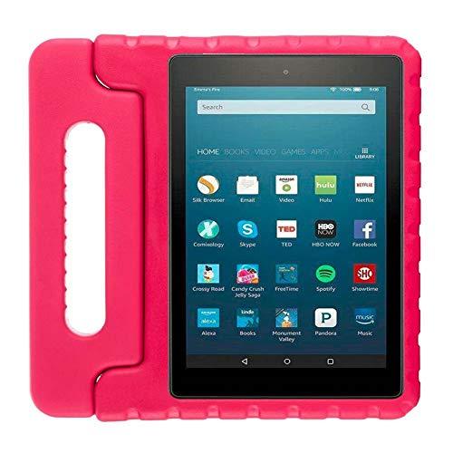 JiuRui Custodie e Cover per Amazon Fire HD 8 Pollici 2020, Eva Kids Kids Ammortizzabile Cassaforte Tablet Case Children Anti-Drop Case per Amazon Fire HD 8 Plus 2020 (Colore : Rose)