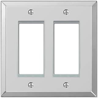 Amerelle Mirror Double Rocker Wallplate in Clear Mirror