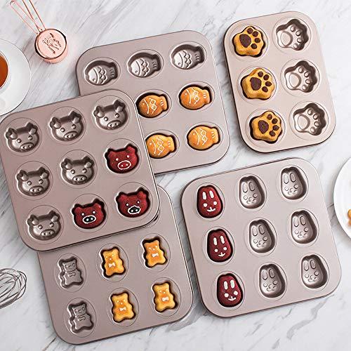 moulle à gâteau chiffre,moule de cuisson,moulle à gâteau carré,moule à gâteaux, faire des gâteaux en forme de dessins animés, accessoires de four à pâtisserie (5 pièces)