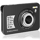 Digitalkamera Kompaktkamera 1080P 30 MP Fotoapparat Digitalkamera 2,7-Zoll-LCD-Bildschirmkamera mit 8-Fach Digitalzoom Mini Vlog Kamera Günstig für Erwachsene, Kinder, Anfänger