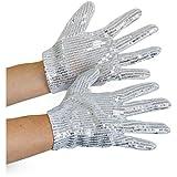 Folat Silberne Pailletten Handschuhe Kinder -