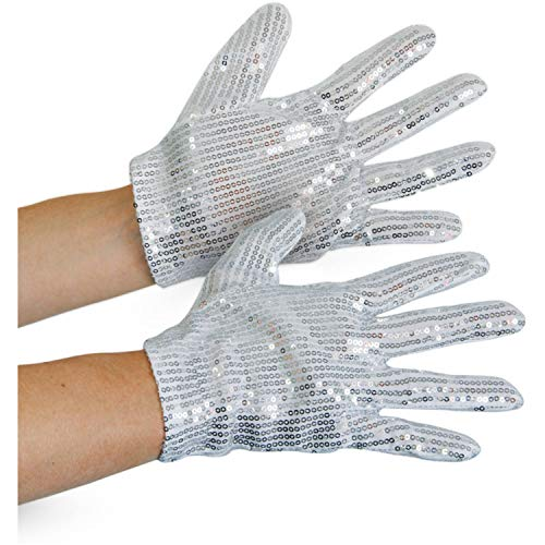 Folat Silberne Pailletten Handschuhe Erwachsene