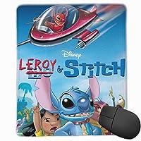 スティッチと多くの友達 マウスパッド おしゃれ 高級感 ゲーミング オフィス最適 滑り止めゴム底 付着力が強い 耐久性が良 22x18x0.3cm