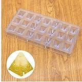 Zonster moldes 3D Forma de pirámide de Chocolate, policarbonato PC al por Mayor plástica del Chocolate del Molde Cuadrado, sartén de Cocina para Hornear pirámide