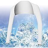 FANCYPUMPKIN Respirable Verano UV Sun Protector Manga de Brazo Cubre para Golf/Tenis/Ciclismo/Pesca, Tamaño M-Blanco