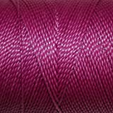Linhasita Waxed 100% Polyester Twisted Waterproof Fray Resistant Macramé Cord Thread String Many Colors 180 yards/170m Spool, Friendship Bracelet, Imported from Brazil (899 Dk Pink, 1mm)