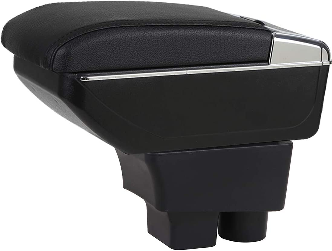YJYWZH Car Houston Mall Max 87% OFF Armrest for Fabia 2 Console Ce Double Layer 2008-2013