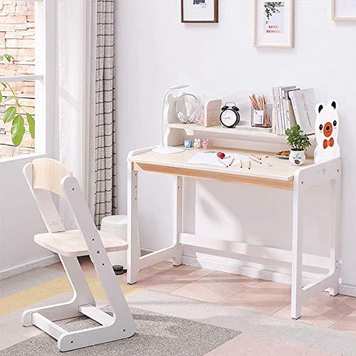 Escritorio para niños y silla Set Bear Silla para niños Mesa de ascensor y sillas Estaciones de trabajo para estudiantes de 3 a 10 niños para niños Niños Niños Amigos Familia (Color: Blanco, Tamaño: 8