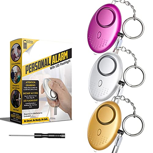 Personal Alarm, 140dB Police Approved Security Sirens Keychain with...