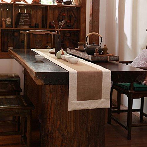 Nappes Simple Style chinois Linge de maison Rétro Couleur unie Indicateur de table Luxe Classique Sauvage Table basse Décoration Mobilier de maison Serviette de lit Marron