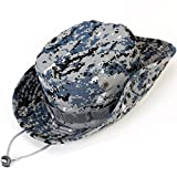 Kolumb Wide Brim Boonie Hat, Men & Women Top Camo Bucket Hats for Safari Military Beach…