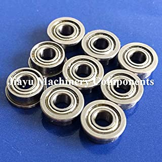 Fevas 50 PCS SF684ZZ Flanged Bearings 4x9x4 mm Stainless Steel Flange Ball Bearings DDLF-940ZZ