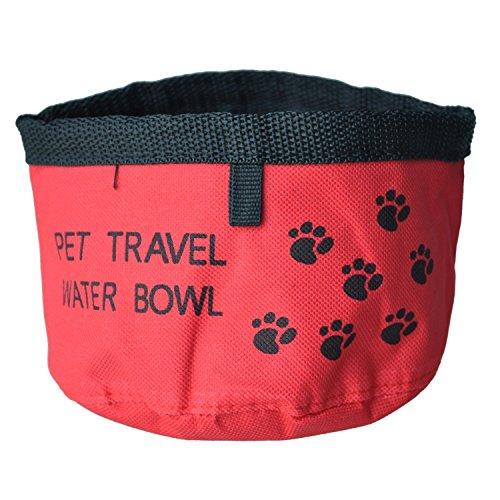 TOOGOO(R) Comedero Bebedero Portatil Color Rojo para Perro Gato Mascotas