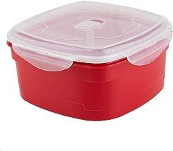 Home Basics Plastic Microwave Steamer (4-Section)