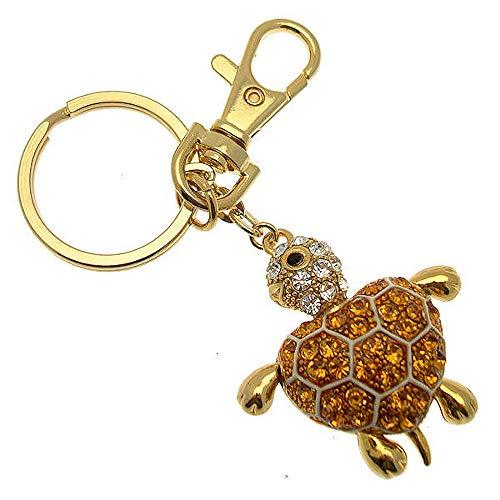 Acosta - gouden toon Swarovski kristal - schildpad hart tas bedel/sleutelhanger/accessoire - sieraden cadeau idee