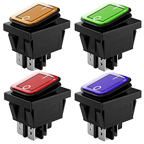 SPST Plastique Interrupteur /à Levier avec LED Rouge ARTGEAR 6 pi/èces Interrupteur /à Bascule DC12V 20A Utilis/é pour la voiture Auto Camion Bateau ON//OFF 2 Positions 3 Broches
