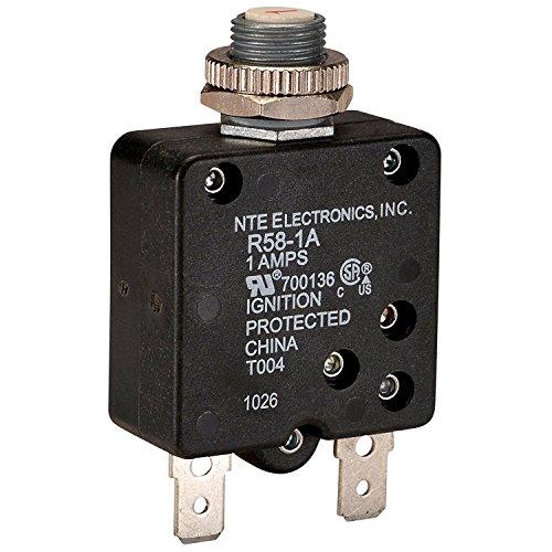 NTE Electronics R58-1A Series R58 Thermal Circuit Breaker, 250