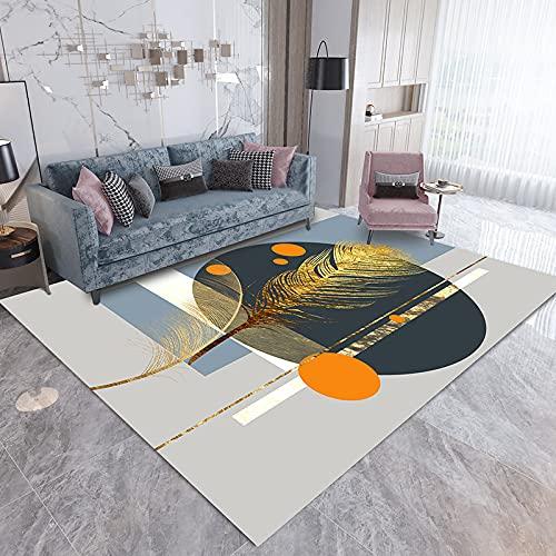 ZAZN Moderna Pequeña Alfombra 3D Fresca Sala De Estar Mesa De Centro Manta Dormitorio Nórdico Simple Alfombra Grande Lavable Antideslizante Resistente Al Desgaste