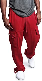Men's Gym Fitness Workout Pants Bodybuilding Cargo Jogger Pants Chino Trousers Sweatpants Drawstring Working Pants