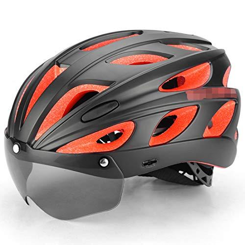 Casco de ciclismo profesional con gafas polarizadas, casco de bicicleta de montaña/carretera para hombres y mujeres para competición de esquí de fondo, certificación CE