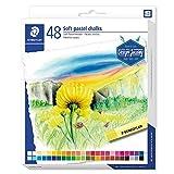 STAEDTLER 2430 C48 Softpastellkreiden (hoher Grad an Lichtbeständigkeit, weicher Abstrich, leicht...