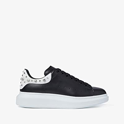 Alexander McQueen Double Sole Studded Sneaker (Black/Bone) Men