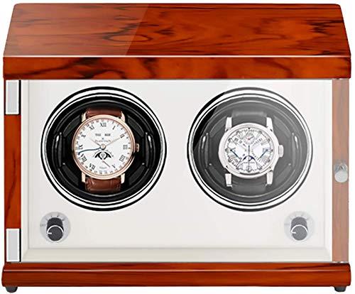 JJDSN Agitador de Reloj Recargable de Dos Posiciones Enrollador de Reloj mecánico Caja de bobinado de Reloj automático Vertical con luz LED Sensible a la luz Adecuado para Relojes mecánicos