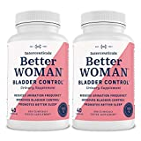 BetterWOMAN Bladder Control Supplement for Women- Helps to Reduce Bathroom Trips - Sleep Better at Night Reduce Urgency and Occasional Leakage* - interceuticals (2 Bottles)