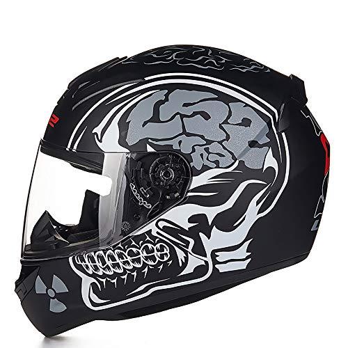 SYyshyin Casco de bicicleta para adultos con patrón de plata para montar en coche eléctrico, motocicleta, casco de bicicleta de montaña, equipo de equitación al aire libre (tamaño: XXL)