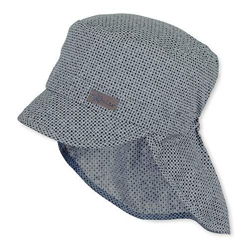 Sterntaler Baby-Jungen Schirmmütze mit Nackenschutz Mütze, Grau (Rauchgrau 566), XXXX-Large (Herstellergröße: 49)