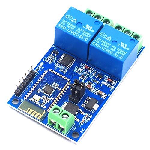 SODIAL 12V MóDulo de Relé de Doble Circuito MóDulo de Interruptor de Relé Hogar Inteligente