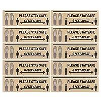 警告ステッカー2セット防水警告デカールPVC距離マーカーバルコニーリビングルーム商業スペース用スクール(B004)