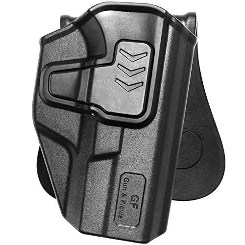 Glock 19 Holster,Polymer OWB Holster for Glock 19 19X 23 32 45 (Gen 1 2 3 4 5)| Paddle Belt Holsters Outside The Waistband Glock 19 Holster Concealed Carry|9mm Gun Holsters Pistols Women/Man-Adj.Cant