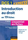 Introduction au droit DCG 1 - En 19 fiches