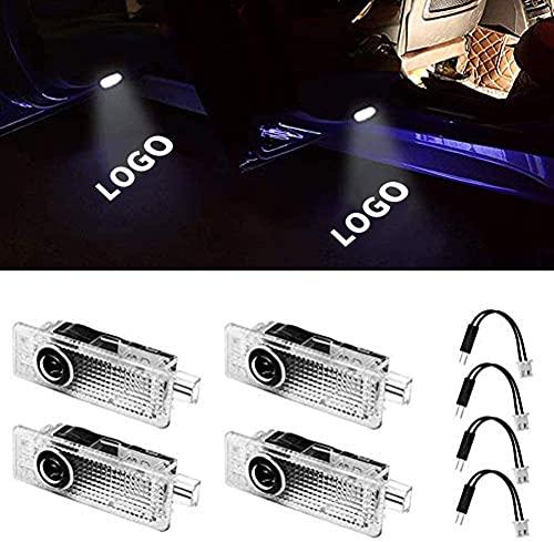 (Paquete de 4) Proyector de luz con Logotipo de Rendimiento Luces de Bienvenida láser de cortesía Luz de Sombra Fantasma Compatible con Accesorios BMW X1 X3 X4 X6 1 3 4 5 6 7 Serie Z GT