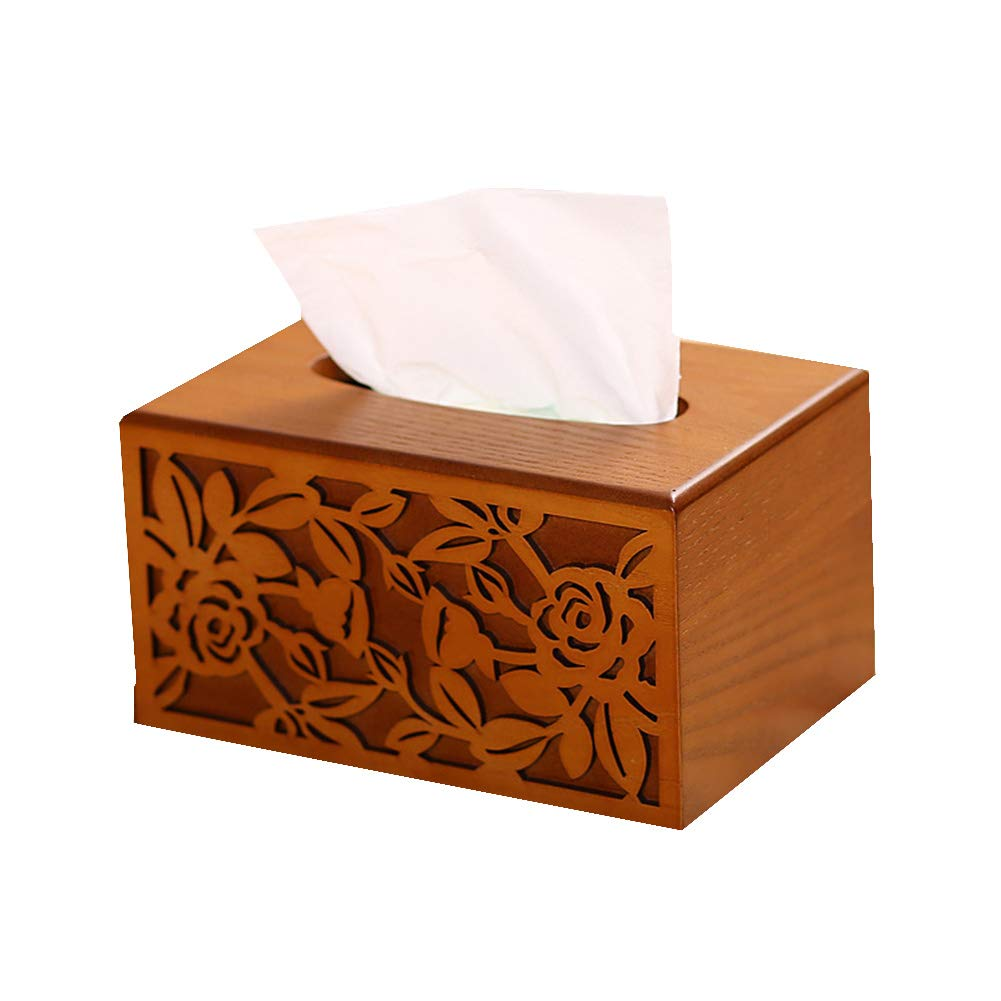 Caja de Pañuelos De Madera Dispensador De Pañuelos Para Salón O Dormitorio Oficina: Amazon.es: Jardín