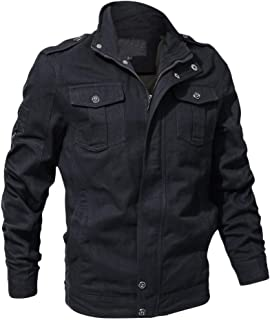 Men's Casual Solid Color Long Sleeve Button Jacket Coat Autumn Winter Warm Tooling Jacket Top Blouse M-6XL