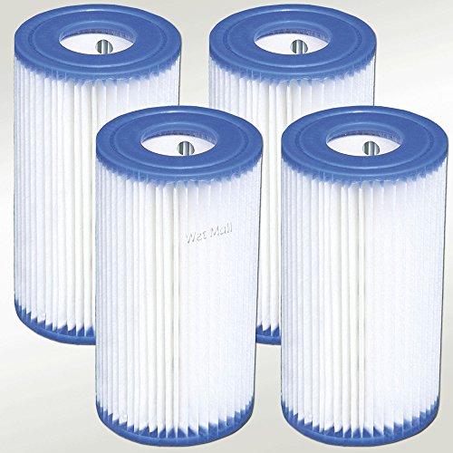 Intex 29000E Cartucho de filtro de repuesto para bombas de piscina Intex o marca similar, 20.32 x 10.82 cm, tipo A, de fácil juego