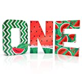 Distaratie Watermelon One Letter Sign-Red One in a Melon Cake Smash Photo Prop Watermelon First Birthday Party Decorations Large Freestanding Paper Mache 1 Year Old Number Sign