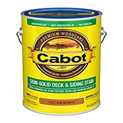 powerful Cabot 140.0017417.007 Semi-hard deck  siding Low VOC external stain, gallons, mahogany